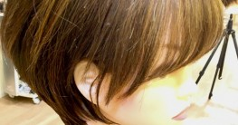 伸ばしかけ、ショートヘアのリフレッシュカラー